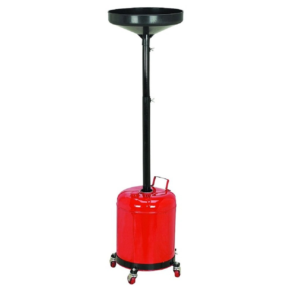 JDM Auto Lights Oil Waste Drain Pan Portable 5 Gal Gallon Draining Tank Dolly Funnel Drum Lift by JDM Auto Lights