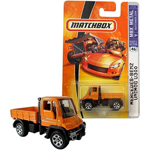 Matchbox Year 2007 MBX Metal Series 1:64 Scale Die Cast Metal Car #46 - Orange Color Multi Purpose Medium Truck MERCEDES BENZ UNIMOG U300 K7490 -