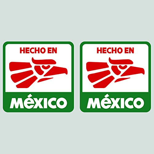 Two Pack Hecho en Mexico Sticker Decal Vinyl Made in Mexico MEX MX FA Vinyl