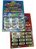 Amazing CAPSULE CreaturesGrow in Water Soft Animal Magic Capsules - Variety 2 Pack: 24 Different Creatures!