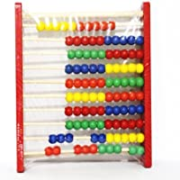 Wooden Framed 10-bead 10 Digits Abacus Counting Frame Kids Math Education