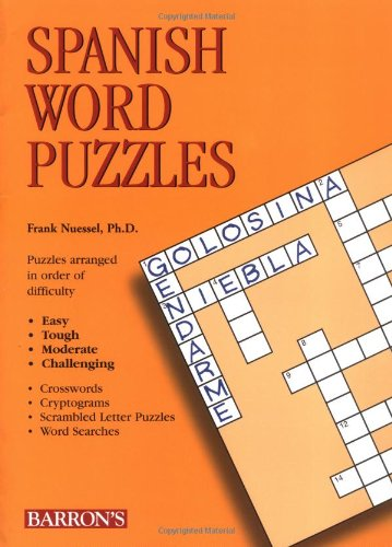 Spanish Word Puzzles (Foreign Language Word Puzzles) by Barron's Educational Series
