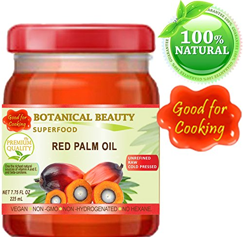 RED PALM OIL. 100% Pure / UNREFINED / EXTRA VIRGIN / Cold Pressed. SUPER FOOD. 7.75 Fl.oz – 225 ml. by Botanical Beauty (Image #3)