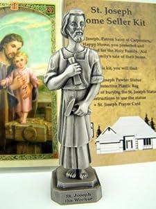 quality pewter st joseph statue home seller selling kit saint figurine instruction. Black Bedroom Furniture Sets. Home Design Ideas