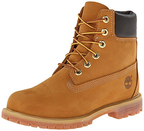 Timberland Women's 6-inch Premium Waterproof Boots, Durable Leather Uppers with Padded Collar for Added Comfort