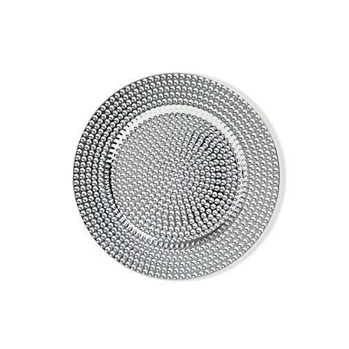 Brandani 54913 Drops Underplate Silver Set 4 Pieces PP, Multicolor