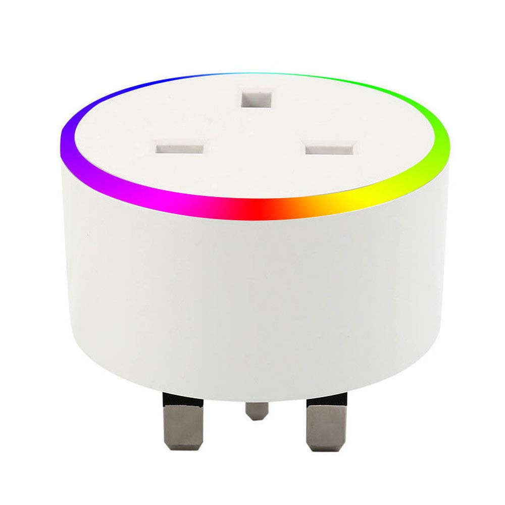 WiFi Smart Plug Smart Socket Works With Alexa Google Home And IFTTT Timer Scene Setting Energy Monitor Mini RGB Plug Control Your Devices From Everywhere by IOS Android No Hub Required 1 Pack Top-Vigor