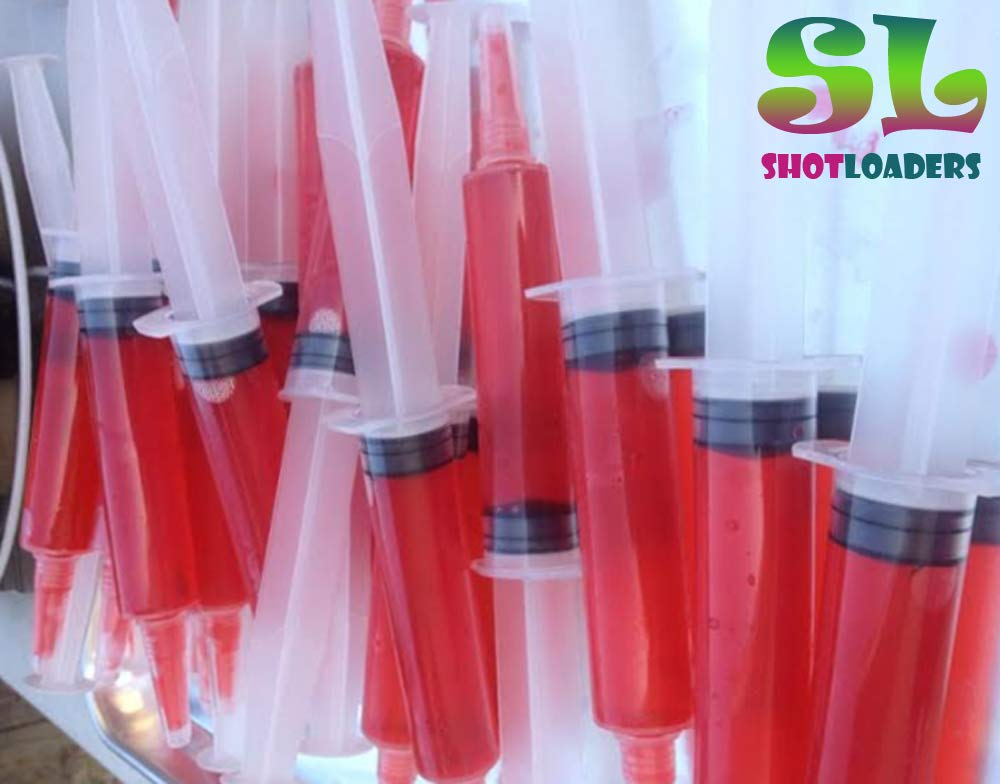 Jello Shot Syringes 50 pack - Jumbo! X-Large, 2 oz size, BPA free, washable and reusable Syringes for Jello Shots | Bonus Jello Shot Recipe eBook | Perfect for Large Jello Syringe Shots by Shot Loaders (Image #3)