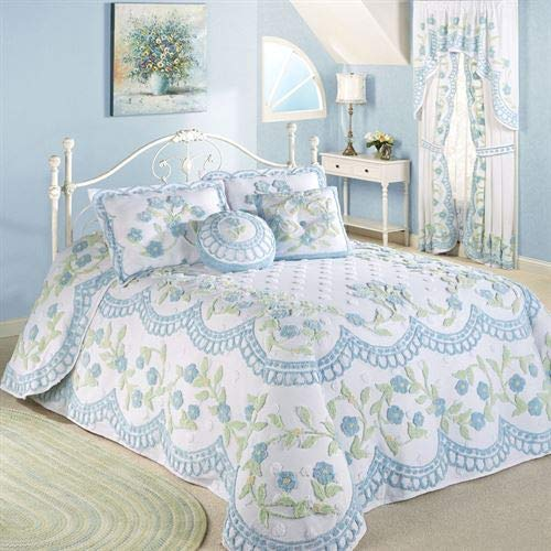 Touch of Class Cottage Bloom Grande Bedspread Blue (Decor Catalogs Cottage)