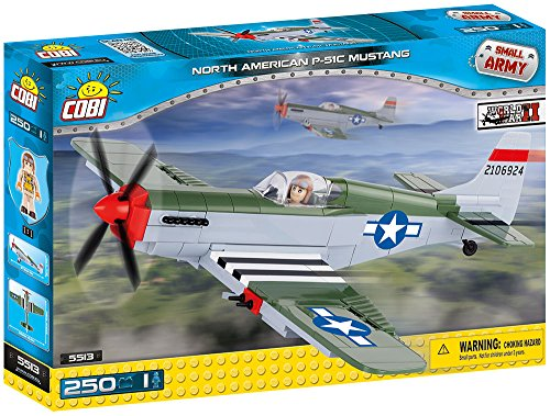 h American P51 Mustang Building Kit, Small, Multicolor ()