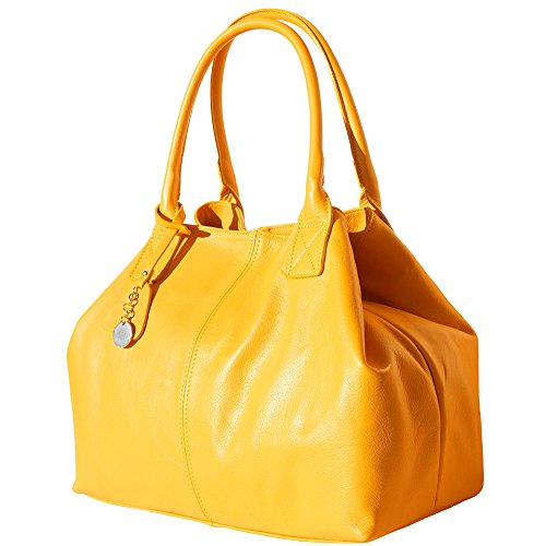 BORSA SHOPPING IN VERA PELLE DI VITELLO 3015 Giallo