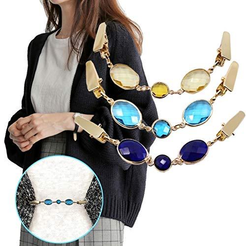 Buy blue rhinestone sweater clip
