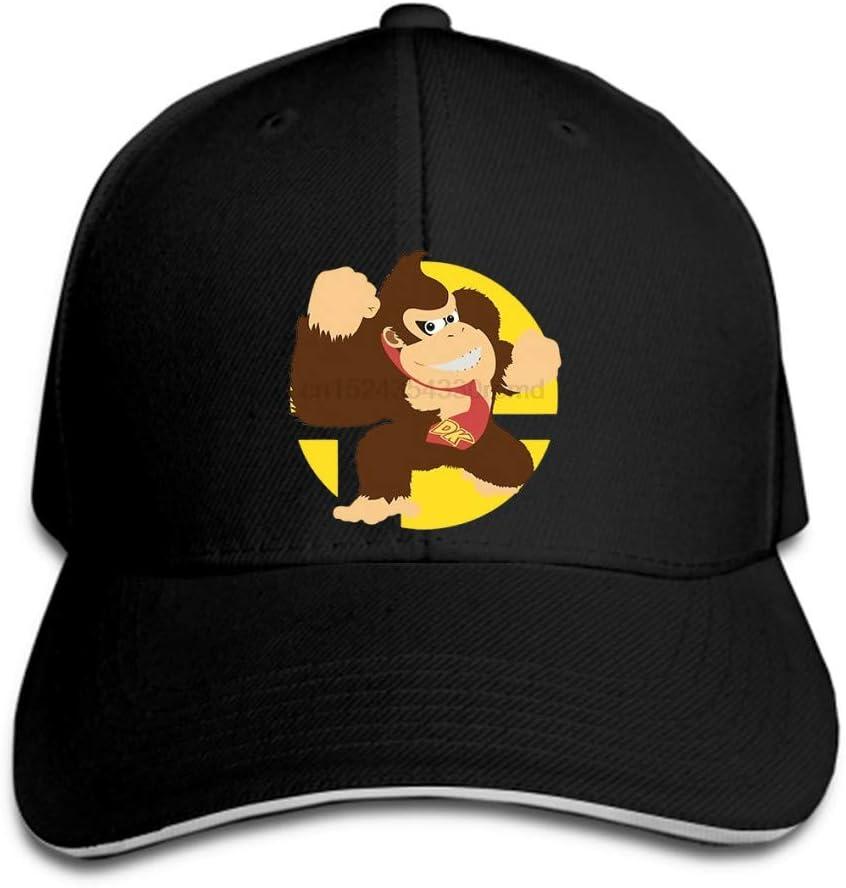 N//A Baseball Cap Herren Donkey Kong Damen Top Snapback schwarzer Hystereseneinstellbarer Casual Hip Hop lustig im Freien Schirmm/ütze