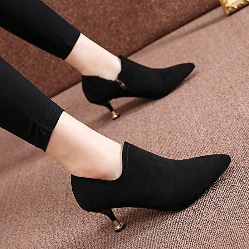 LBTSQ-Hochhackigen Schuhe 6cm Mode Mode Mode einfach vereiste Tiefe Single Schuh Spitze dünn und Temperament. 45d84e