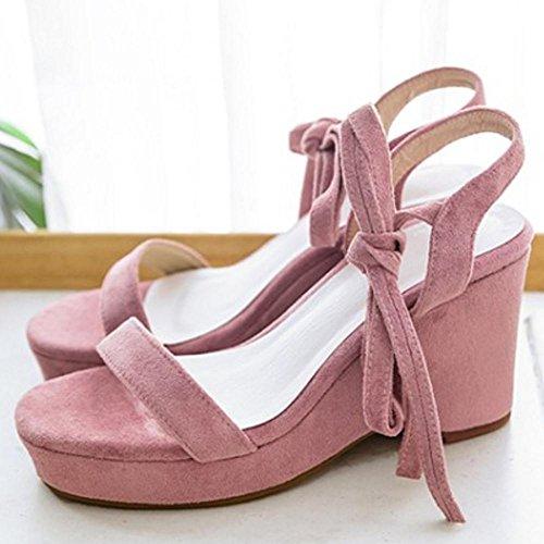 Coolcept Women Classic Wedges Sandals Strap Pink-65 EVBlZ