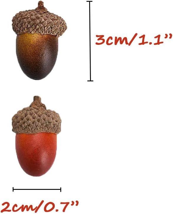 Dshengoo 100PCS Artificial Small Acorns,Fake Acorn,Decorative Acorns for DIY Crafts,Christmas,Autumn Party,Dark and Light Color