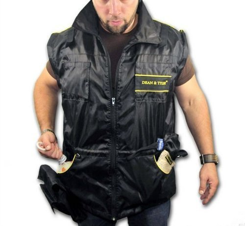 DT Dog Training Vest with Removable Long Sleeves, Black/Yellow, X-Large (Size: 44-Inch) by Dean & Tyler (Image #3)