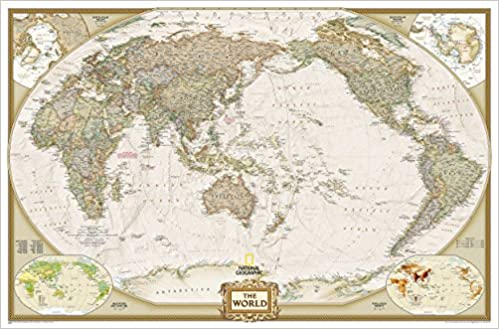 World executive pacific centered wall maps world national world executive pacific centered wall maps world national geographic maps amazon libros gumiabroncs Image collections
