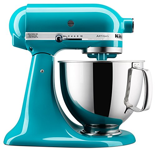 KitchenAid KSM150PSON Stand Mixer, 5 quart, Ocean Drive (Teal Kitchenaid Hand Mixer)