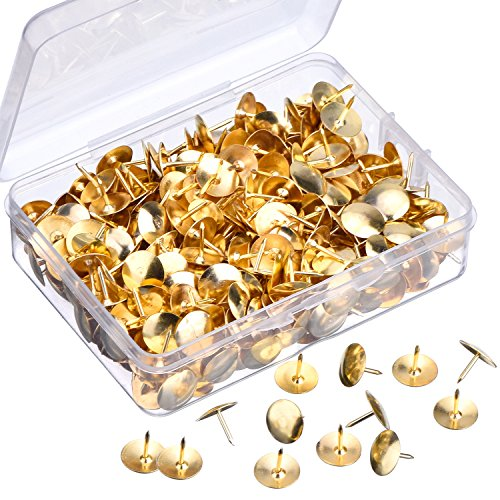 Outus Thumb Tacks 400 Pack for Office, Home and DIY, Brass Color