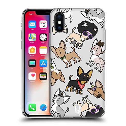Breed Chihuahua (Head Case Designs Chihuahua Dog Breed Patterns Soft Gel Case for Apple iPhone X)