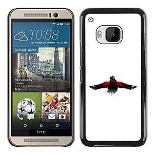 Shell-Star Arte & diseño plástico duro Fundas Cover Cubre Hard Case Cover para HTC One M9 ( The Crow Raven )