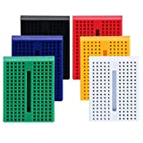 eBoot 6 Pieces Mini Breadboard 170 Points Experiment Breadboard Solderless Plug-in Breadboard with Double Sided Tape for Arduino Prototype Shield, 6 Colors
