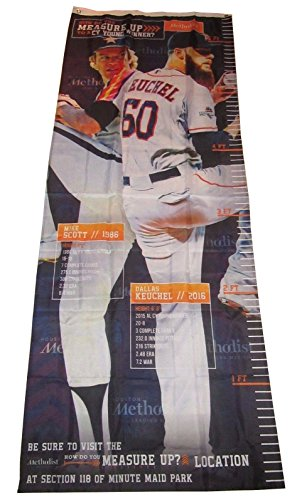 (HOUSTON ASTROS CY YOUNG 7' BANNER Growth Chart MIKE SCOTT DALLAS KEUCHEL SGA)