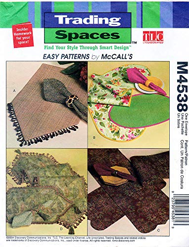 Mccall's Trading Places Table Runner, Placemat, Napkins M4538 (Mccalls Placemat)