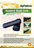 Agfabric 50% 6.5x20ft Sunblock Shade Cloth for Plant Cover, Greenhouse, Barn or Kennel, Pool, Pergola or Carport, Cut Edge UV Resistant Fabric