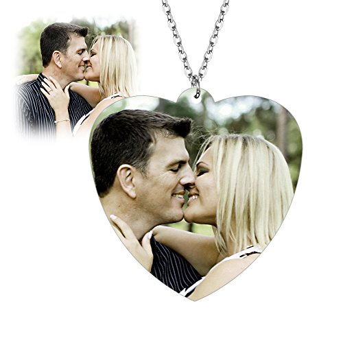 Photo Necklace Jewelry Gifts Pendant Customized Custom for Photos Women Men girls dad boys couple Fathers Mothers day Engraved birthday Personalized Customize Picture Charm Heart Necklaces Gift prime