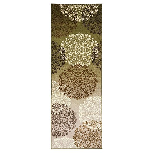 Superior's Designer Non-slip Hedena Area Rug; Digitally Printed, Low Maintenance, Affordable and Fashionable, Multi-Color - Runner