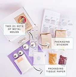 DIY Luxe Bath Bomb Making Kit with Metal Molds, Essential Oil, Make 15 Luxury Bath Bombs with Everything You Need.