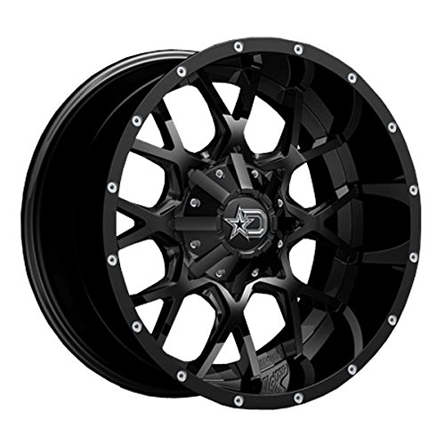 Dropstars 645B 20×9 8×165.1/8×6.5″ +0mm Black/Milled Wheel Rim