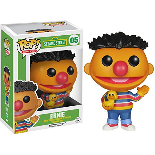 Funko Ernie: Sesame Street x POP! Vinyl Figure & 1 PET Plastic Graphical Protector Bundle [#005 / 04908 - B] -