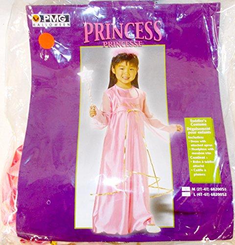(PMG Halloween Pink Gold Princess Costume Dress M 2T-4T)