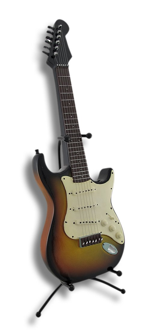 樹脂Toy Banks SunsetエレキギターCoin Bank withスタンド6.25 X 16.75 X 7インチマルチカラーモデル# 77502   B00FH79HS2