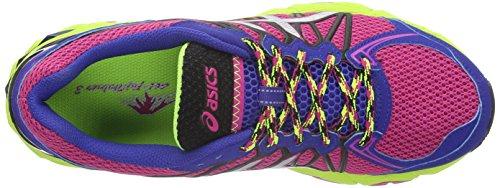 Asics Damen Gel-Fujitrabuco 3 Neutral Sportschuh pink/silber/blau