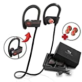 Bluetooth Headphones, Best Wireless Sports Earphones w/ Mic Waterproof HD Stereo for Gym Running Workout 8 Hour Battery Noise Cancelling Headsets