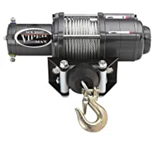 Viper Max 3500lb ATV Winch & Custom Mount for Yamaha Big Bear 400 2x4, 4x4 with Steel Cable