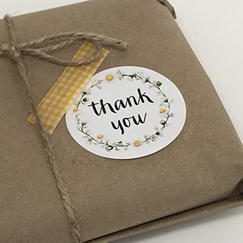 (Thank You Stickers, Floral Border, Whimsical Thank You, Thank You Labels, Gift Tag Stickers, Thank You, Stickers,)