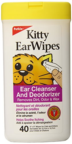 Petkin Kitty Ear Wipes, 40-Count Pack (Pack of - Ear Products Wipes