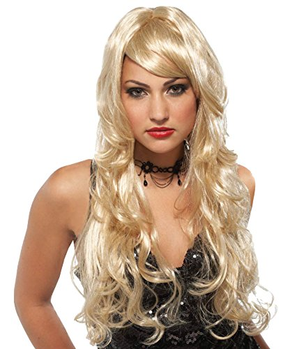 Sexy Super Model Adult Wig (UHC Sexy Supermodel Soft Wavy Curls Wig Halloween Adult Costume Accessory (Blonde))