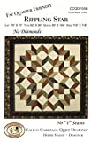 Rippling Star Quilt Pattern, No Diamonds, No ''Y'' Seams, Fat Quarter Friendly, 4 Size Options