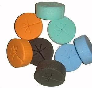 NET CUP CLONING COLLARS INSERTS for DIY CLONERS (100, Blue-Green-Black-Orange)