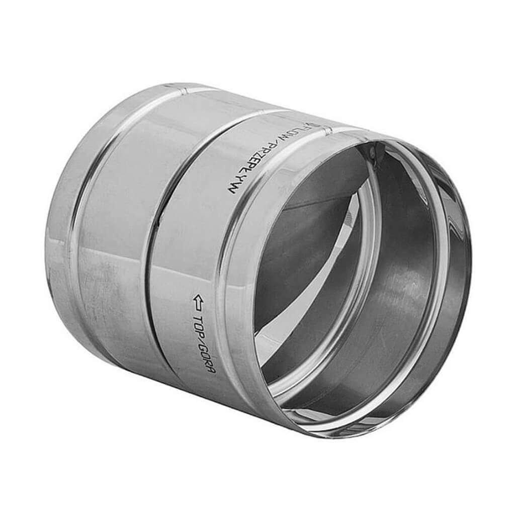 Edelstahl /Ø 200 mm Verbinder mit R/ückschlagklappe f/ür Aluflexrohr