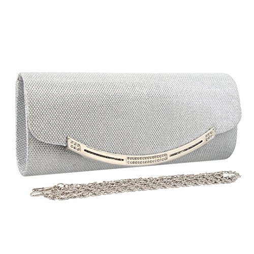 Bag Evening 90S Shoulder Handbag Women' Silver Wedding s Shiny Bag Party Clutch Elegant HHtPr1nO