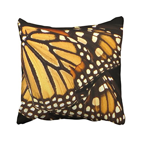 Shorping Zippered Pillow Covers Pillowcases 18X18 Inch monarch butterfly abstract Decorative Throw Pillow Cover ,Pillow Cases Cushion Cover for Home Sofa Bedding Bed Car Seats Decor