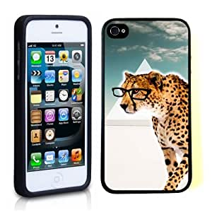 iPhone 5 5S Case ThinShell TPU Case Protective iPhone 5 5S Case Shawnex Hipster Cheetah Geek Glass