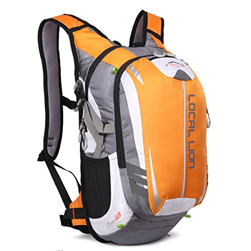 LOCALLION Cycling Backpack Riding Backpack Bike Rucksack Outdoor Sports Daypack for Running Hiking Camping Travelling Ultralight Men Women 18L Yellow